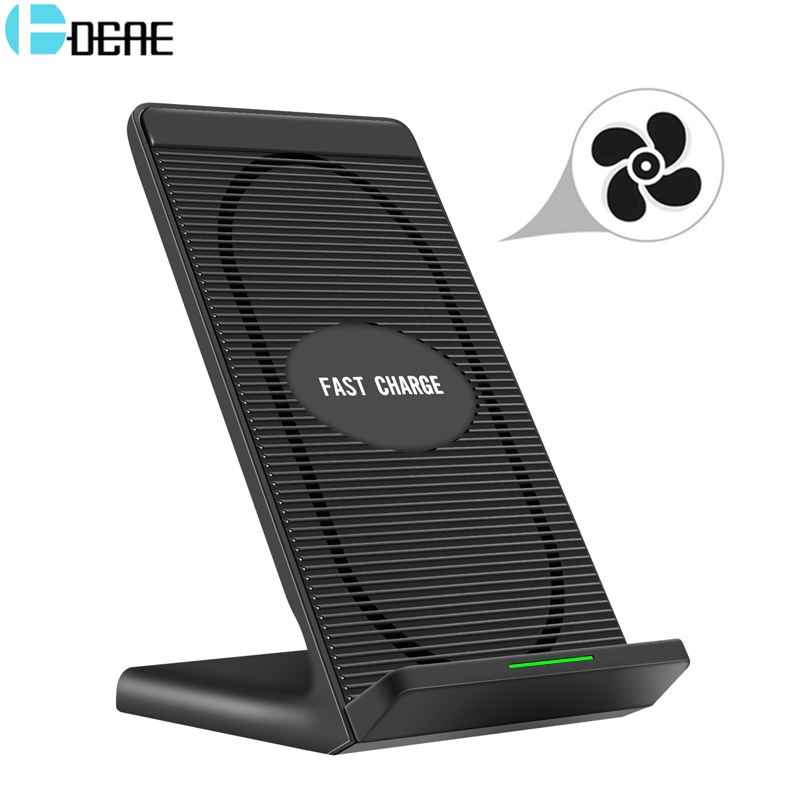 DCAE Qi Fast Wireless Charger For iPhone X 8 Charger USB 10W Power Charging For Samsung Galaxy S8 S9 Note 8 For Xiaomi MIX 2S