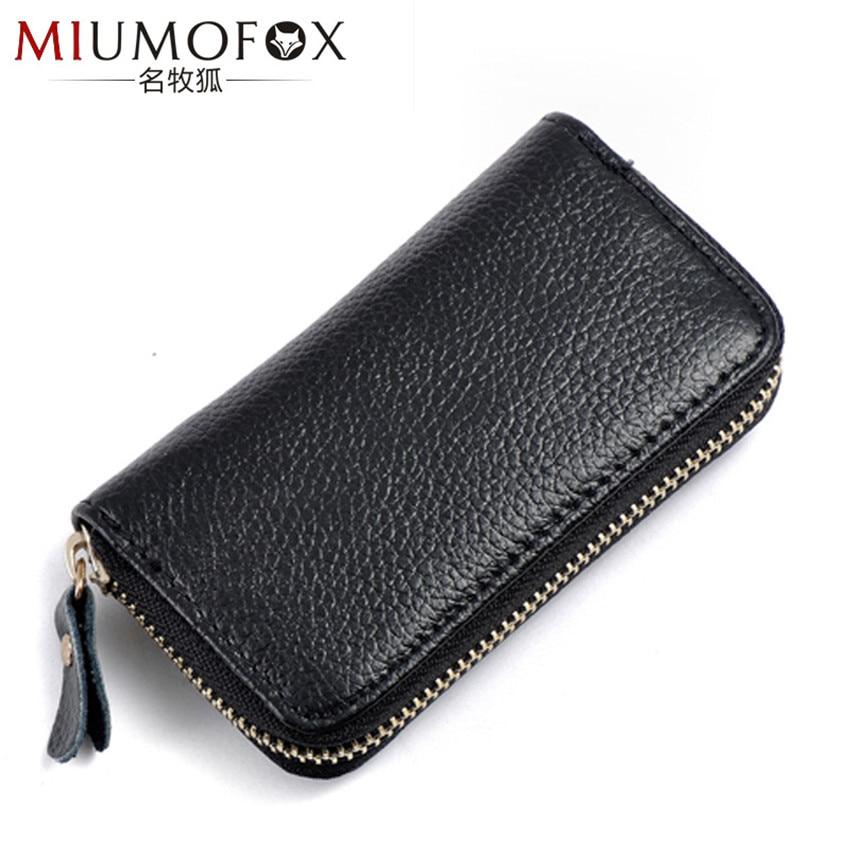 Key Holder Keychain Case Wallet Genuine Leather Unisex Key Wallet Key Organizer Key Bag Holder Car Housekeeper Wallets Pouch