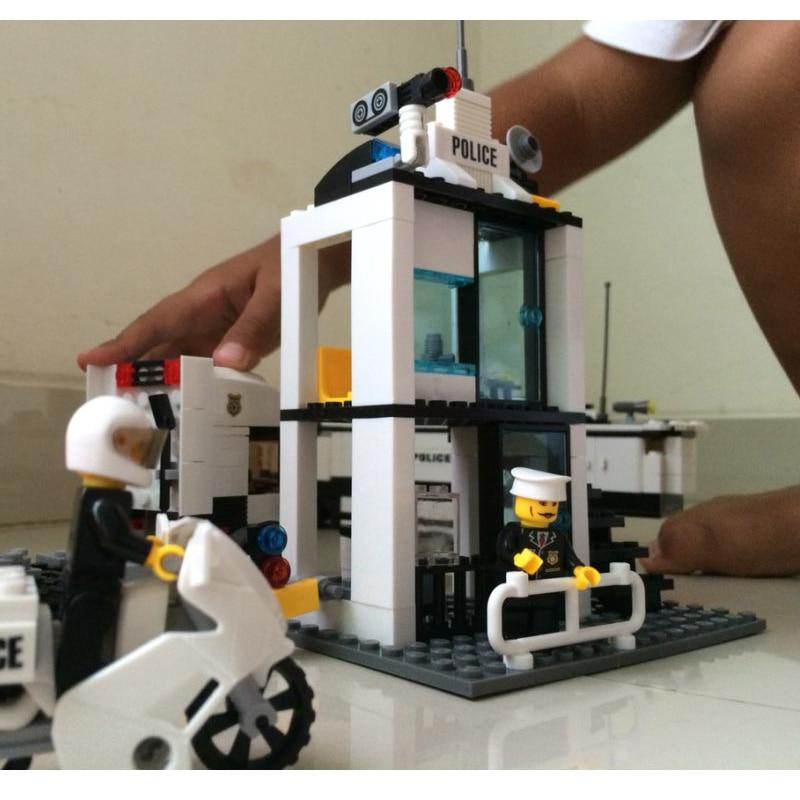 KAZI Bina Blokları Polis Bölməsi Model Bina Blokları Uyğun Legoe - Uşaq konstruktorları - Fotoqrafiya 4