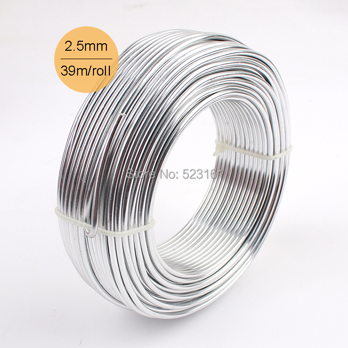 Wholesale 05kg 6mroll anodized artistic aluminum craft wire 60mm wholesale 05kg anodized aluminum diy craft wire 25mm round 10 gauge 39m silver jewelry greentooth Gallery