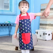 Creative lovely star oil anti-fouling apron Pure cotton bib S size for children 44.5*51.5cm free shipping