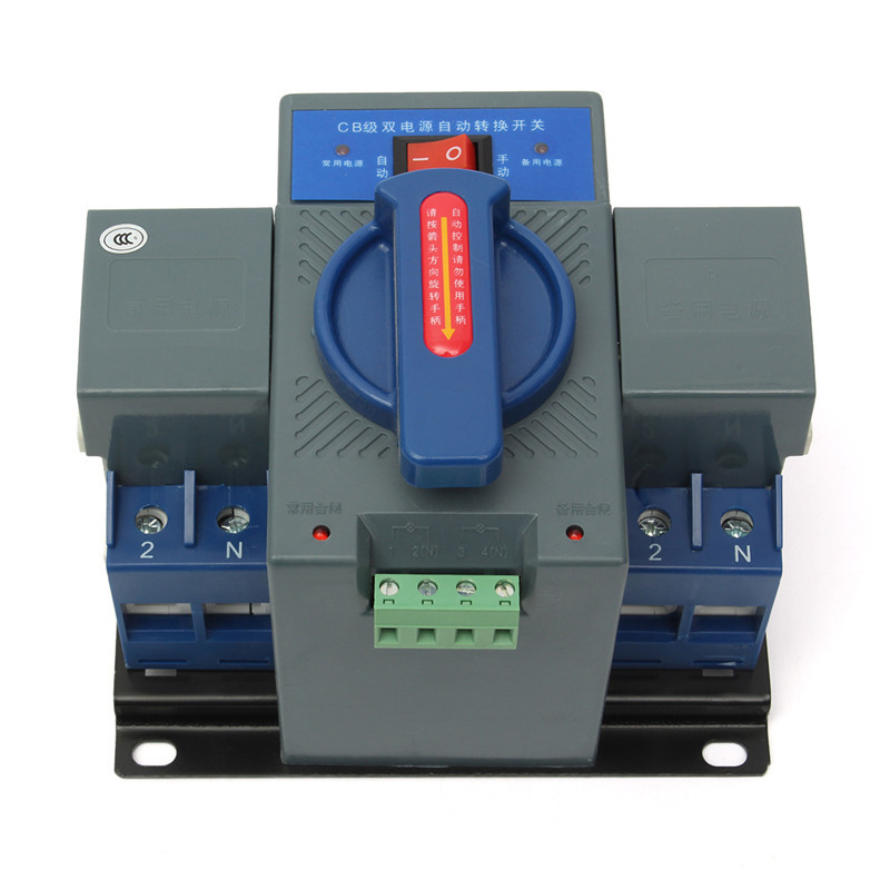 цены 1PCS Micro Circuit Breaker 2P 63A 230V MCB Type Dual Power Automatic Transfer Switching Equipment