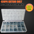420pcs Metric Washers Nuts And Bolts Kit Hard Disk Screws Spacers Hex Set Nails Washer Assortment (M3,M4,M5,M6) HW149