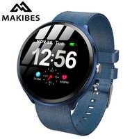 Makibes T4 pro Men'S Smart Watch Waterproof Toughened glass Smart Band Fashion Fitness Tracker Blood Oxygen PK V12 Bracelet