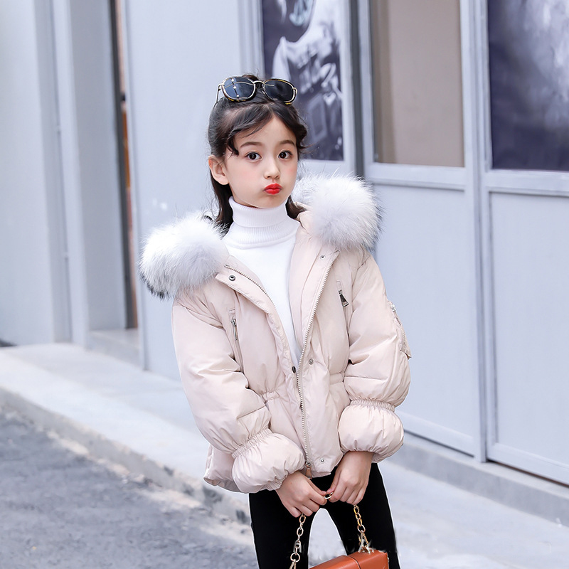 купить 2018 Winter Coat Girl Fur Hooded Down Jackets Coats Children Winter Clothes Girls Fashion Sown Wear Outerwear for Teenage 5-12T по цене 2932.73 рублей
