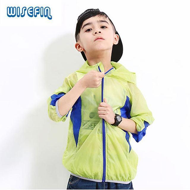 1d875ce77 WISEFIN Niños Abrigo Con Capucha de Moda y Prendas de Vestir Exteriores  Primavera Verano Niños Niñas