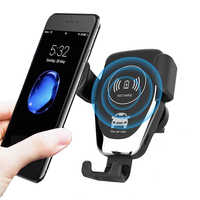 KEPHE 10W Car Fast Wireless Charger For iPhone 8 Plus XR XS Max X Qi Fast Wireless Car Charger For Samsung Galaxy S10 Plus S10