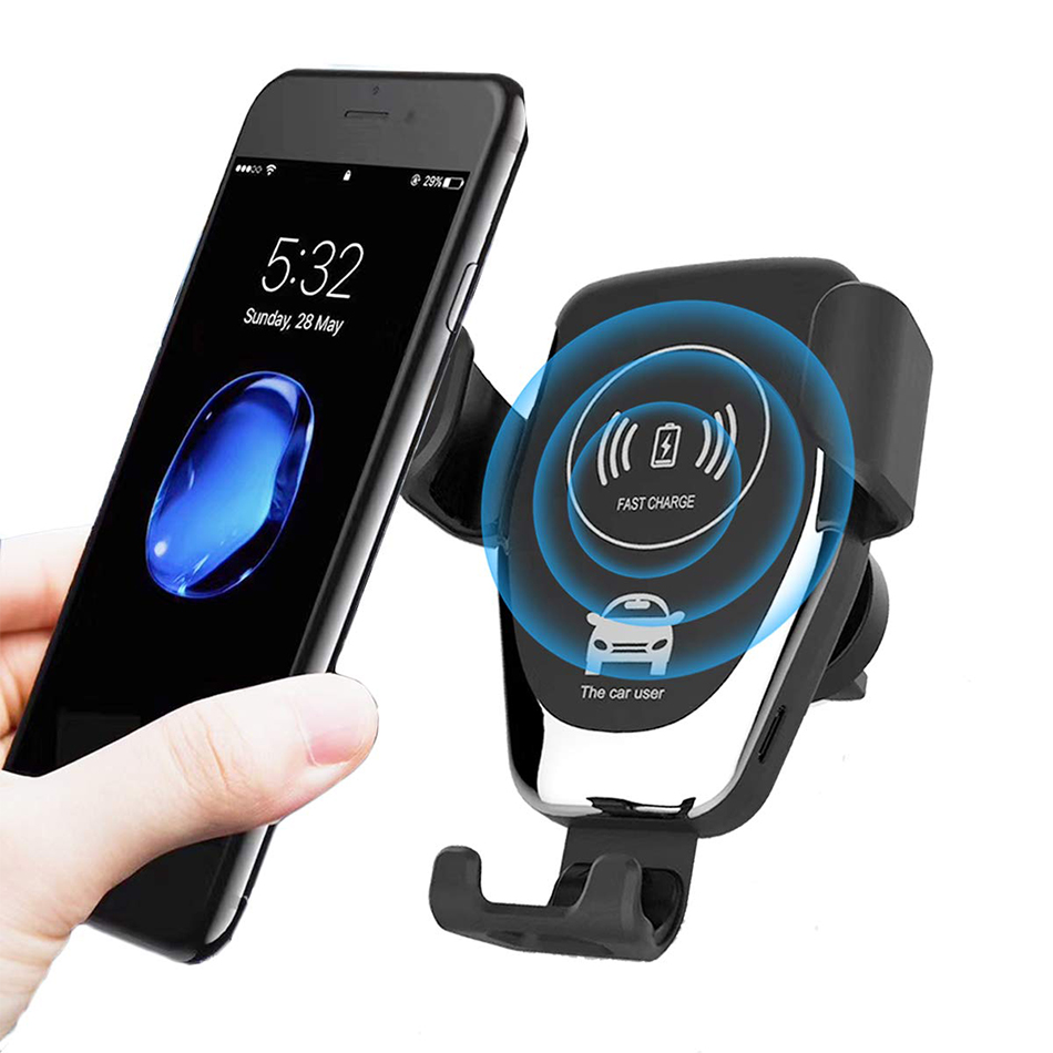 KEPHE 10W Car Fast Wireless Charger For iPhone 8 Plus XR XS Max X Qi Fast Wireless Car Charger For Samsung Galaxy S10 Plus S10 image