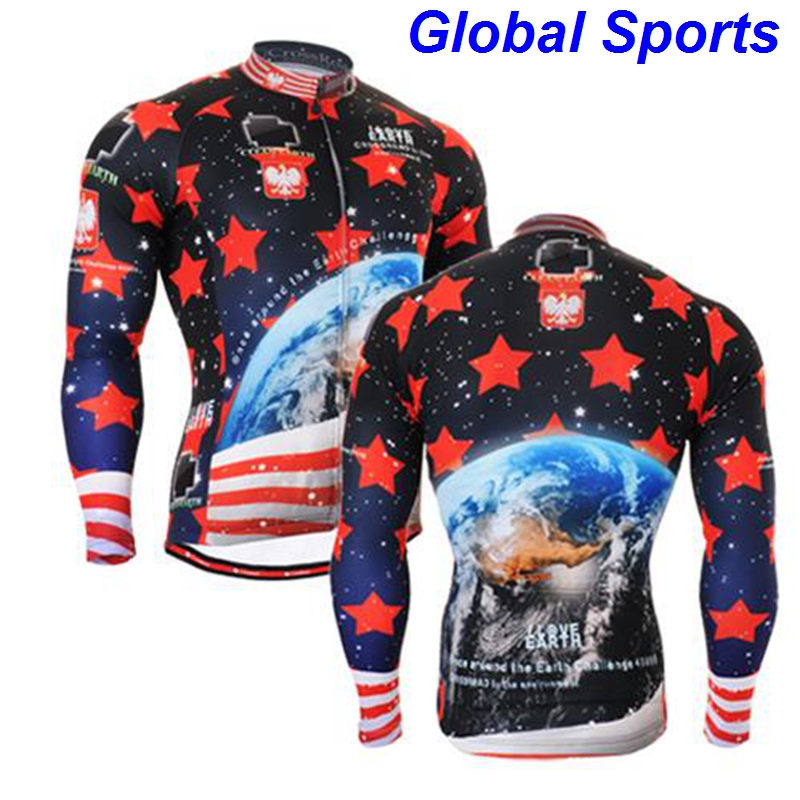 2017 ocean cycling jersey poland mens custom cycling jersey downhill jerseys tops t shirts