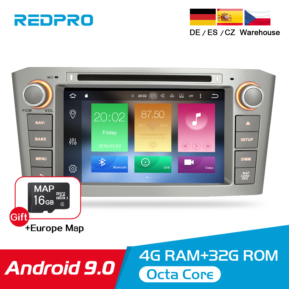 Android 9.0 9.1 Car Stereo For Toyota Avensis/T25 2003 2008 Car DVD Player 2 Din  PC Head 4G RAM Multimedia Video GPS Navigation-in Car Multimedia Player from Automobiles & Motorcycles