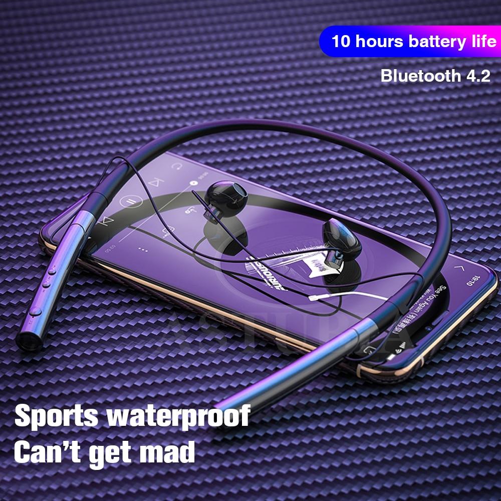 Sport Bluetooth casque écouteur pour téléphone écouteurs V5.0 stéréo tour de cou sans fil écouteurs pour Samsung pour iPhone Xiaomi oreille - 2