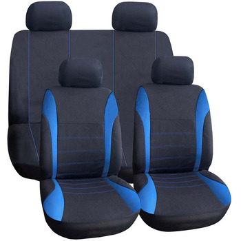 New High Quality Universal Car Seat Cover 9 Set Full Seat Covers for Crossovers Sedans Auto Interior Styling Decoration Protect фото