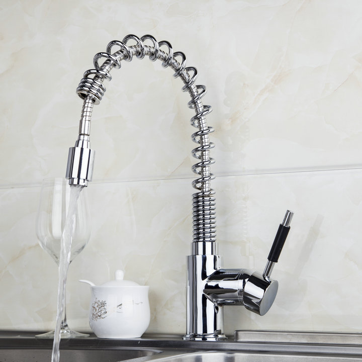 New Stream Hot/Cold Water Kitchen Cozinha Torneira Kpah 8547B-2 Deck Mount Chrome Ceramic Brass Vessel Sink Faucets,Mixer Tap