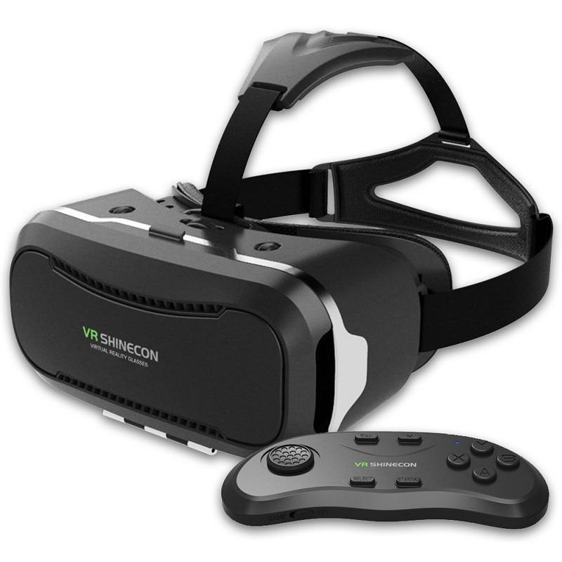 Новые <font><b>VR</b></font> shinecon Очки II 2.0 Версия <font><b>VR</b></font> коробка виртуальной реальности 3D Очки с оригинальным <font><b>bluetooth</b></font> геймпад для 4.3- 6.0 &#8220;телефон