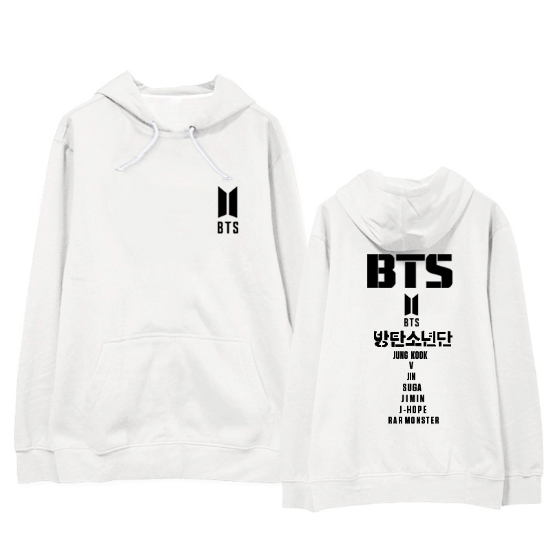 Kpop BTS SUGA same printing men and women student hoodies Korea loose lovers keep warm hooded sweatshirts Casual Harajuku tops