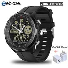 New Zeblaze VIBE 4 Hybrid Flagship Rugged Smart Watch 50M Waterproof 33-month Standby Time 24h Sapphire Glass Smartwatch Men