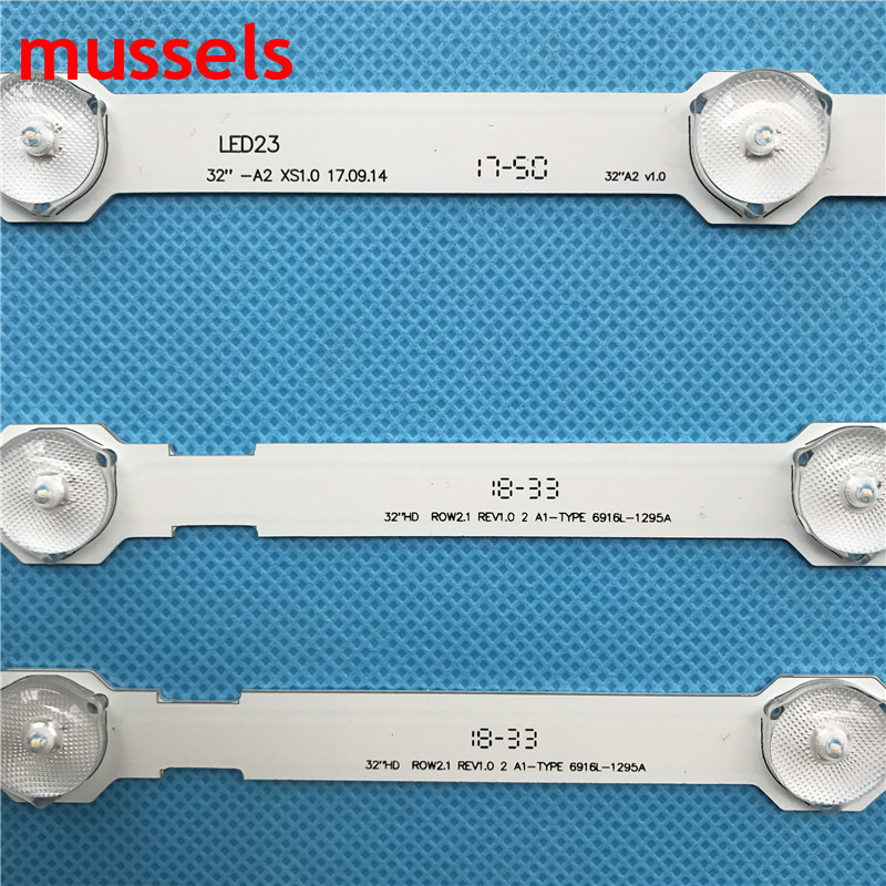 """Image 2 - LED Backlight Strip For LG 32"""" TV 7 Lamp 630mm A1A2 Bar 6916L 1295A 6916L 1205A 6916L 1106A 6916L 1440A 6916L 1439A wholesale-in Industrial Computer & Accessories from Computer & Office"""