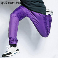 Mens Street Dance Jogger Pants Elastic Waist Hip Hop Pants Meshed Lining Bboy Joggers Sportswear Casual Pants Smooth Handfeel