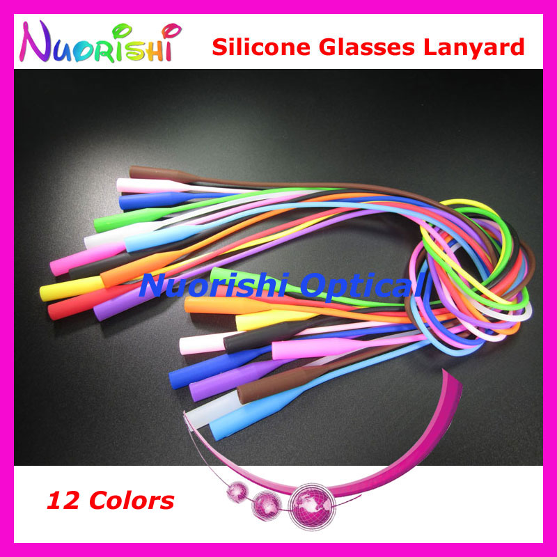 100pcs L609 12 Colors Round Head Design High Quality Elastic Silicone Anti Slip Glasses Sunglasses Long