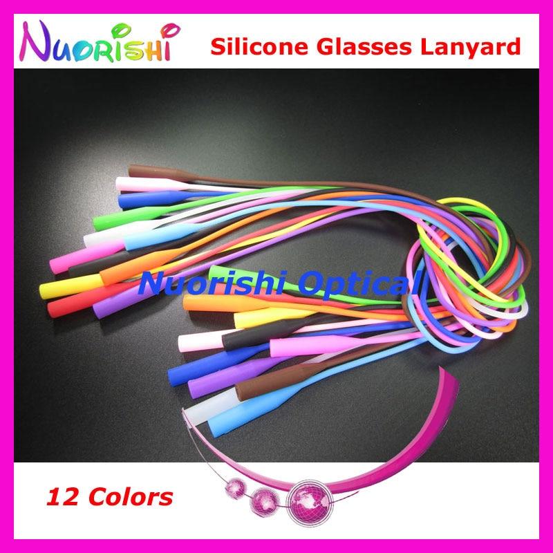 100pcs L609 12 Colors Round Head Design High Quality Elastic Silicone Anti Slip Glasses Sunglasses Long