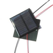 0,6 Вт 5,5 В солнечная ячейка поликристаллическая солнечная панель DIY панель солнечной батареи зарядное устройство с кабелем 15 см провод светодиодный свет 65*65*3 мм