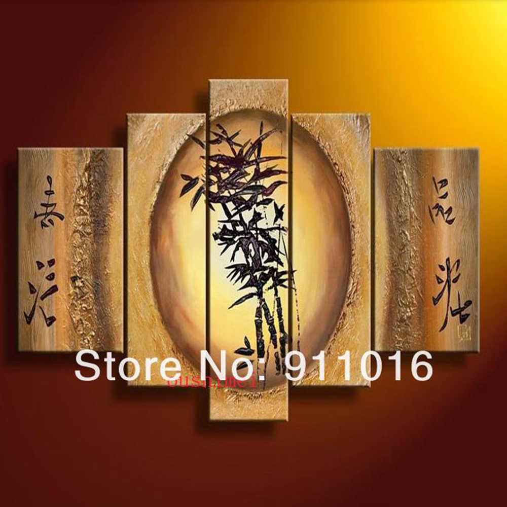 Online Shop Hand-painted Artwork Dance Bamboo Beauty High Q. Wall Decor  Landscape Oil Painting On Canvas 5pcs/set Musical Instruments Art |  Aliexpress ...