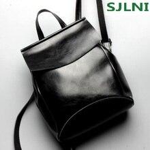Дизайнерские винтажные натуральная кожа женщины рюкзак для модная одежда для девочек женские сумки лучший подарок школьная сумка для подростка