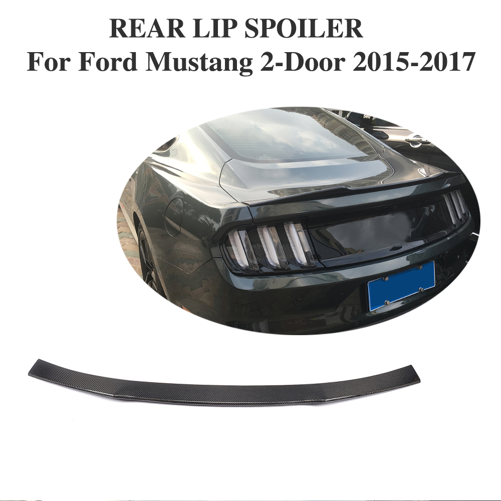 Carbon Fiber Rear Trunk <font><b>Spoiler</b></font> for Ford <font><b>Mustang</b></font> Coupe <font><b>2015</b></font> 2016 2017 Rear Trunk Lid Lip Wing <font><b>Spoiler</b></font> image