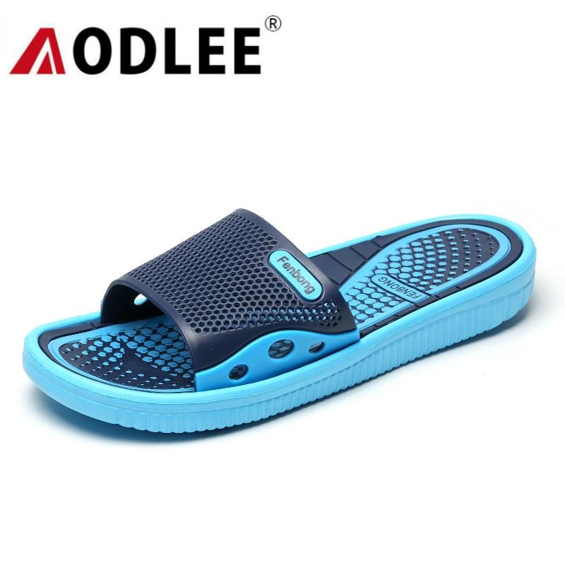 AODLEE Summer Men Slippers EVA Fashion Men Shoes Casual Breathable Beach Sandals Slippers Flip Flops Men Slides Indoor Shoes