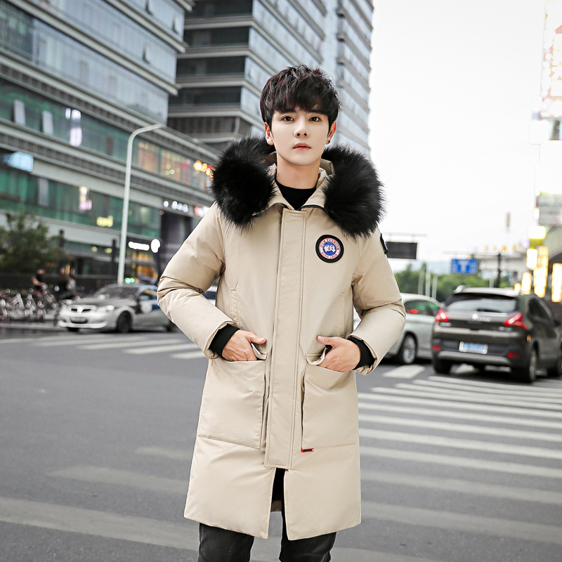 63a456a4327 Youth popular style Winter men s down jacket loose long size large size  thick detachable large