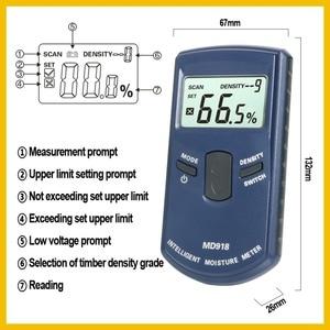 Image 4 - RZ Inductive Wood Timber Moisture Meter Hygrometer Digital Electrical Tester Measuring tool MD918 4~80% Density electromanetic