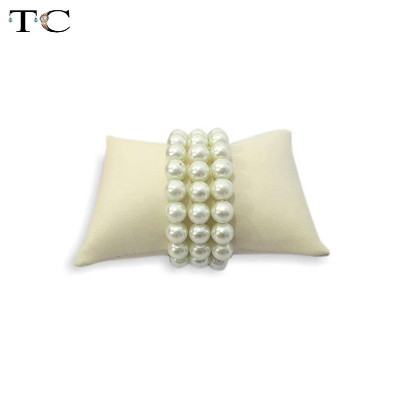 Free Shipping Beige PU Jewellery Bracelet Display Cushion Pillow Jewellery Box Pillow Watch Cushion Small