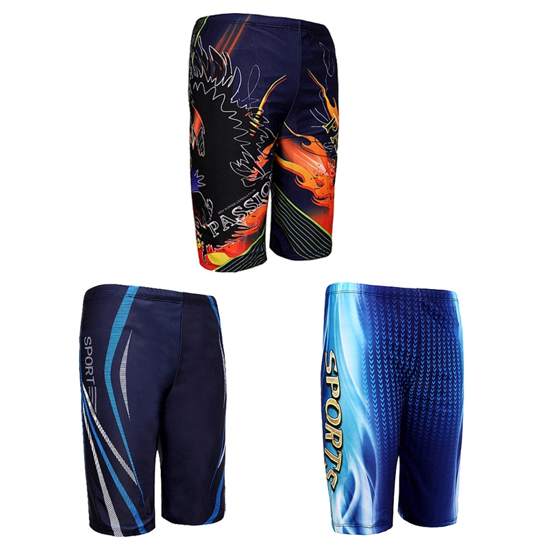 Men Swim Trunks Waterproof Quick Dry Bathing Suit for Male Diving Swimsuit Boxer Briefs Surf Board Beach Shorts Swimwear Men(China)