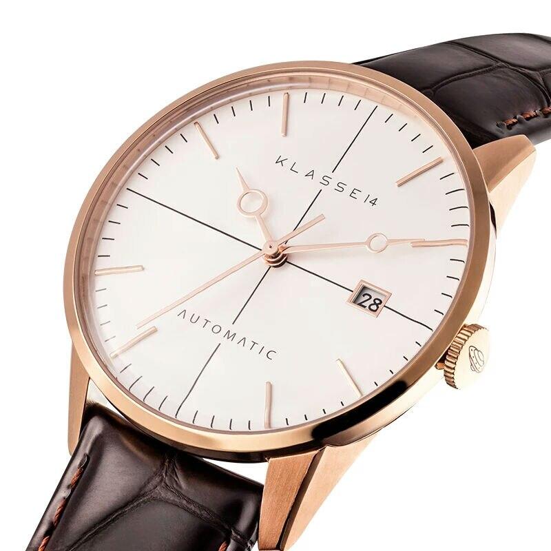 NEW Luxury Brand KLASSE14 Men Sport Watches Men's Quartz Clock Man Army Military Leather Wrist Watch Relogio Masculino