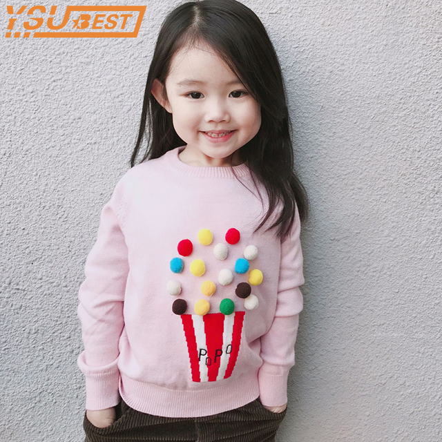522ed3821ec2 Spring Autumn Baby Boys Girls Sweater Kids Knitwear Popcorn Sweaters ...