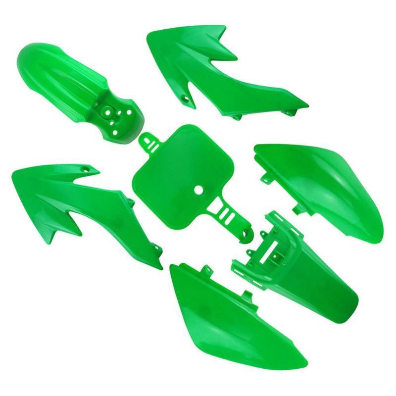 VODOOL 7pcs/set Motorcycle PP Plastic Fairing Trim Motorbike Styling Decorative Accessories For Honda CRF 50 Pit Dirt Bike Green