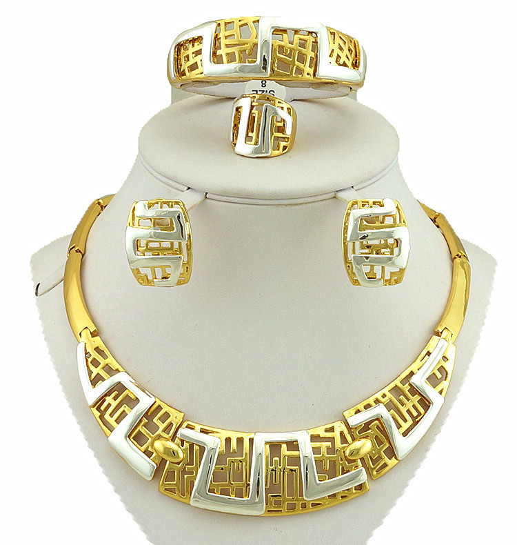 gold plating jewelry sets african big jewelry set