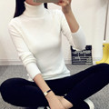 2017 Women Cashmere Sweater Women fashion Slim Solid Autumn and Winter Knitted Warm Turtleneck Pullover Women Sweater