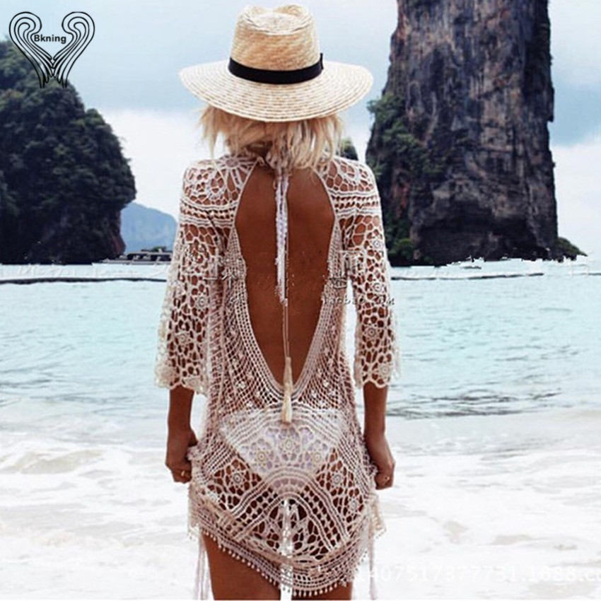 saida de praia Beach Tunic Swimwear Pareo loose Dress Swimsuit Cover Up Sarong Beachwear 16 Bikini Cover-Up robe de plage h308 13
