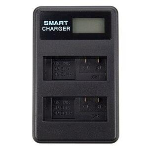 USB Carregador de Bateria LCD EN EL14 Para Nikon D5500 D5100 D5200 D300 D3200 D3100 P7100 P7000|Carregadores| |  -
