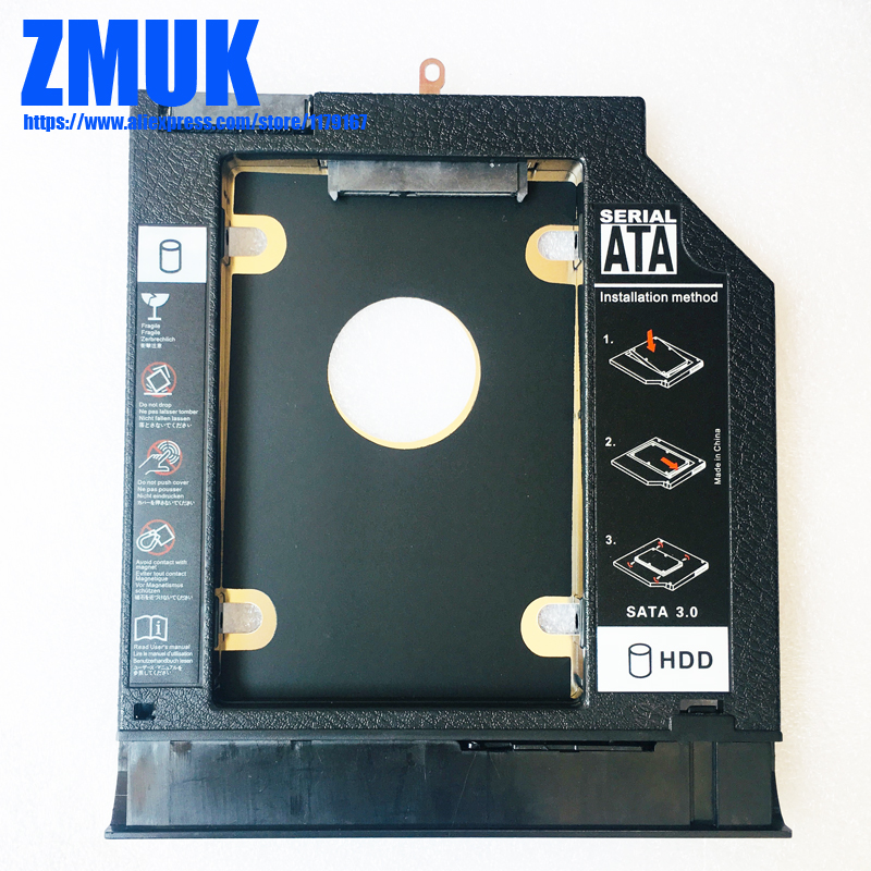 Nova marca Adaptador HDD SSD Caddy w/Painel Frontal Para Lenovo IdeaPad 110-15isk 110-15ikb Series