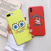 Cute Cartoon Phone Case for iPhone XR XS Max X 8 7 6 6S Plus Cases SpongeBob SquarePants Sponge Bob  Patrick Star Gary case