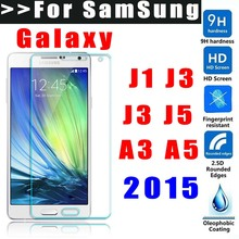 MLLSE 9H Ttempered glass For Samsung Galaxy Grand prime J1 J3 J5 J7 A3 A5 A7 A500 A300 2015 screen protector glass film