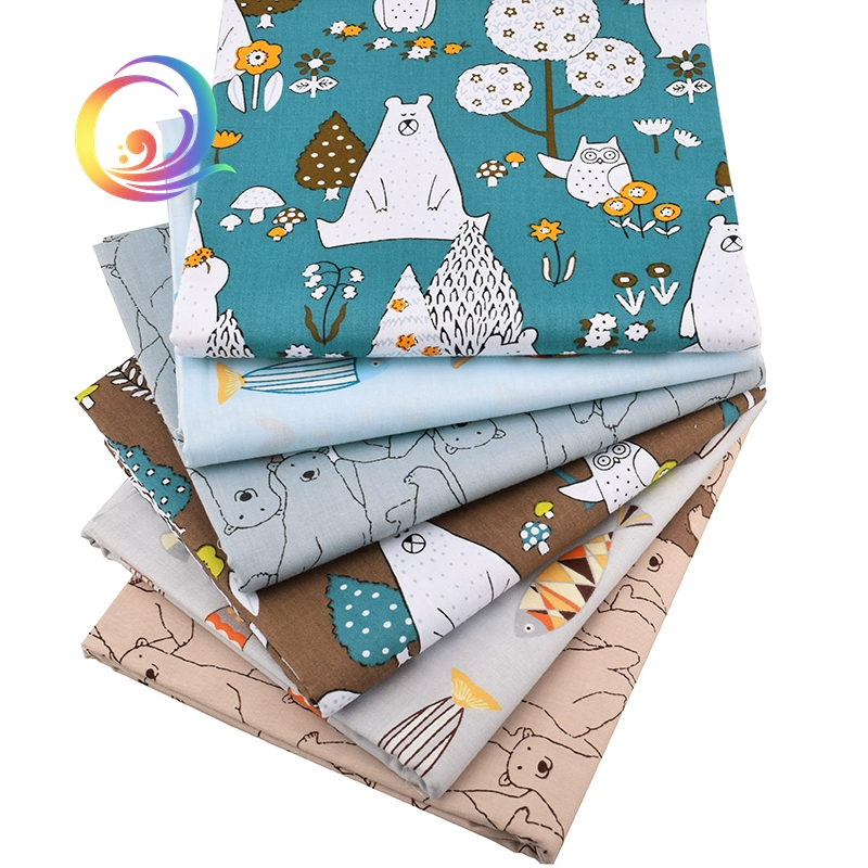 6pcs//lot,New Bears/&Fishes,Twill Cotton Fabric,Patchwork Cloth,DIY Sewing Quilting Material For Baby/&Child