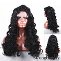 Full Lace Wig Long Black Deep Body Wave  Full Lace Synthesis Heat Resistant Fiber Hair Wigs Free shipping