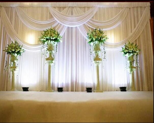 3*6 m Wedding Party Fase Celebrazione Sfondo Raso Curtain Drape Pilastro Soffitto Fondale decorazione Matrimonio Velo WT016