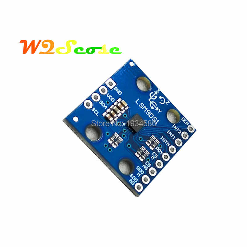 LSM9DS1 SPI I2C serial 9 DOF IMUs Breakout Sensor Replace LSM9DS0 3-axis  Accelerometer Gyroscope Magnetometer for Arduino