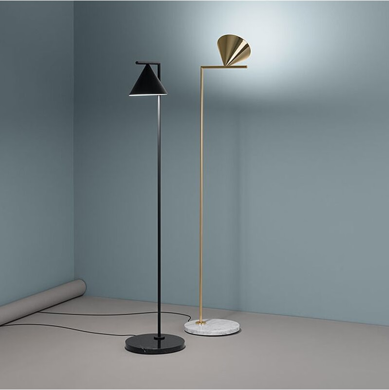 156cm Floor Lamp with Steel Rod and Iron Shade, Black or Golden Bronzing цена
