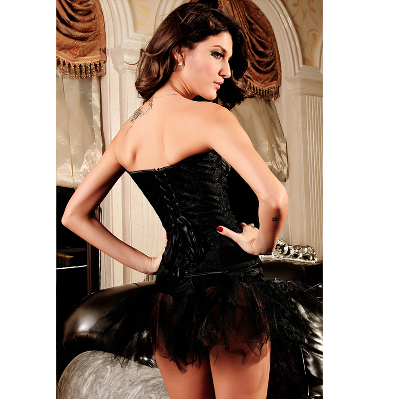 European and American court <font><b>corset</b></font> Pajamas <font><b>Sexy</b></font> <font><b>Lingerie</b></font> Hot tight Women <font><b>Baby</b></font> <font><b>doll</b></font> <font><b>Lingerie</b></font> erotic/exotic Dress size S-6XL image