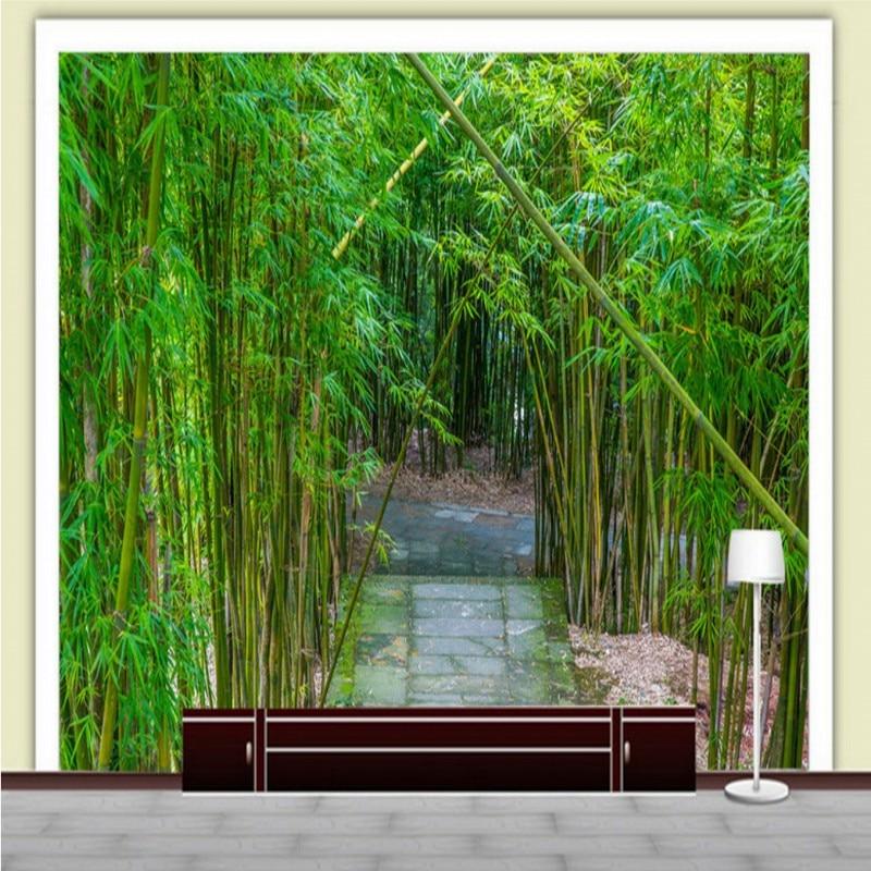 Custom photo wallpaper Custom 3D Stereo Bamboo Shake TV Background Wall restaurant hotel living room wallpaper mural tango кпб bamboo 3d digital 1331 33